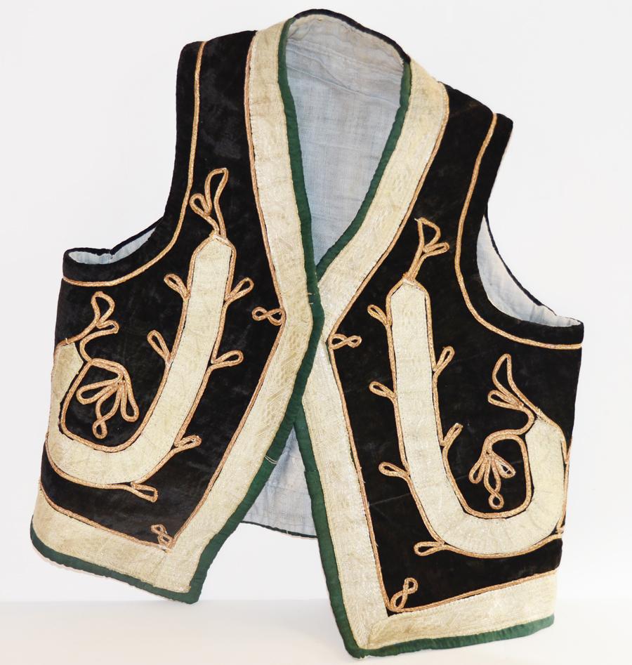 Wonderful European1800s Metallic Childs Vest