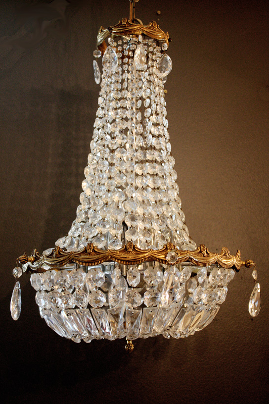 1920s Xrlg French Empire Crystal Chandelier Stunning-Antique Chandelier, Chandelier, Antique, Vintage, Vintage Chandelier, French, Gilt, Crystal, Bronze, Beaded, Italian, European, French Country, Victorian, Prisms, Brass, Italy, Italian Tole, Shabby Chic Chandelier, Rachel Ashwell, French Home Decor, Designer Decor, Paris Flea Market,