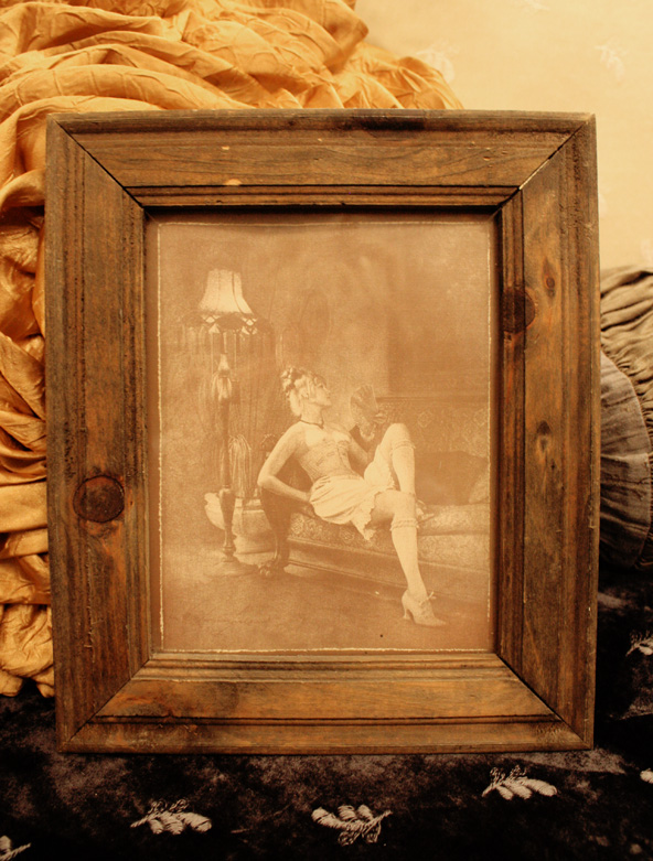 1920s Exotic French Framed Print Nude Gorgeous-