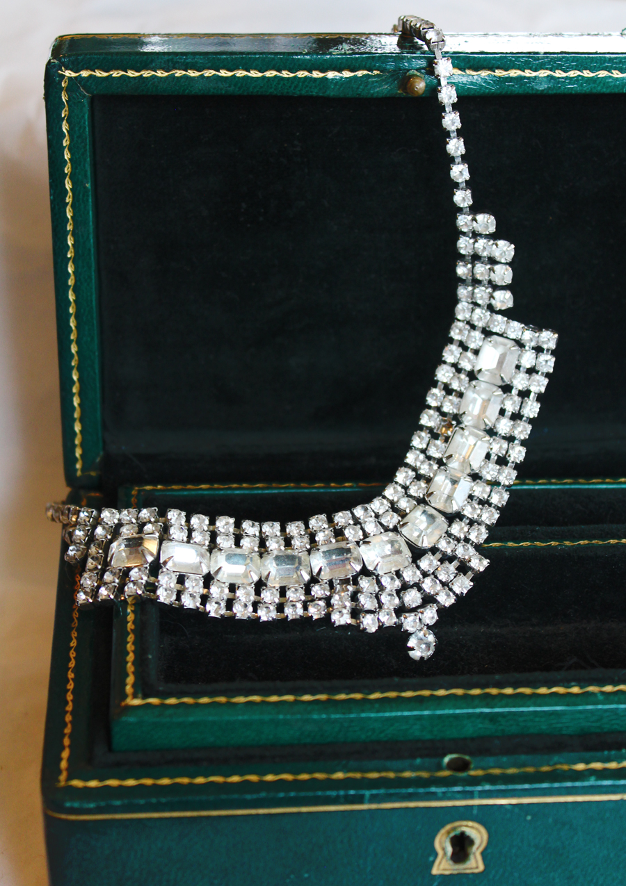Antique Art Deco Rhinestone Necklace