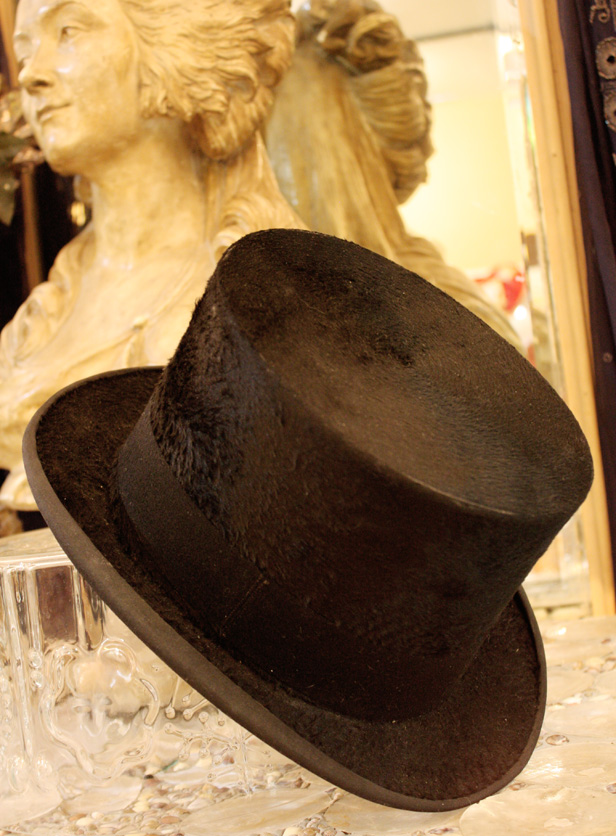 Antique Top Hat Excellent Condition & Gorgeous-
