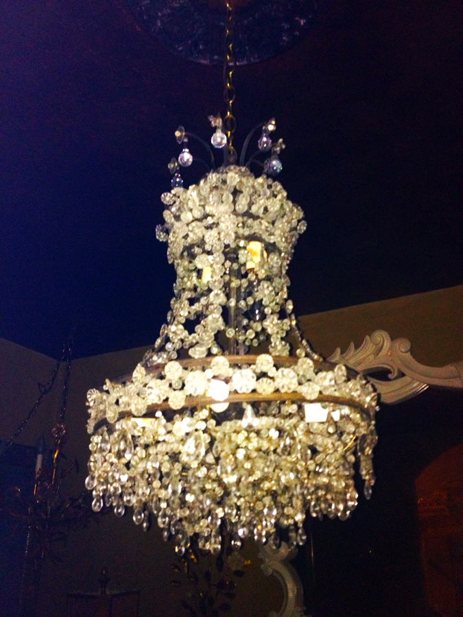 Rare & Incredible French Empire Antique Beaded Chandelier-