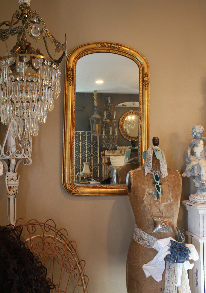 French Gilt Antique Carved Mirror-