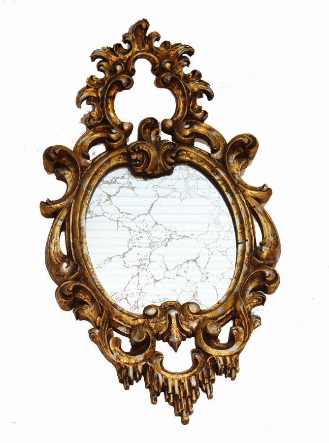 Italian Gilt Gold Vintage Ornate Mirror-
