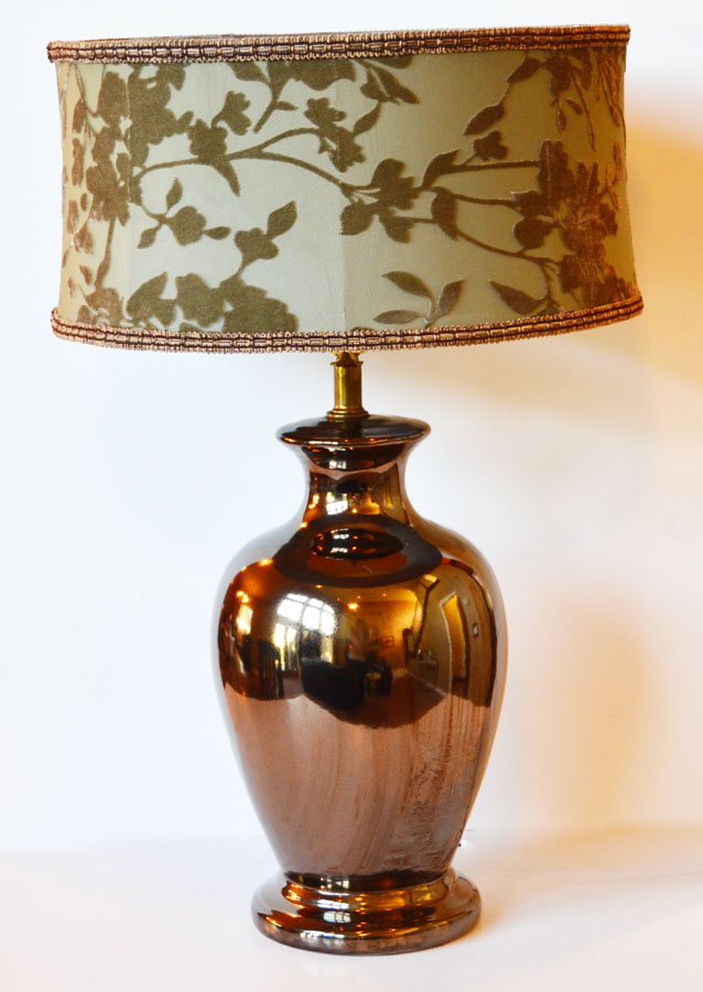 Vintage Mirrored Ginger Jar Lamp-