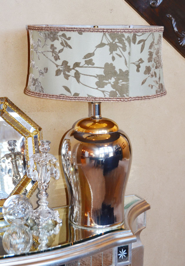 Vintage Ginger Jar 2 Tone Mirrored Table Lamp-
