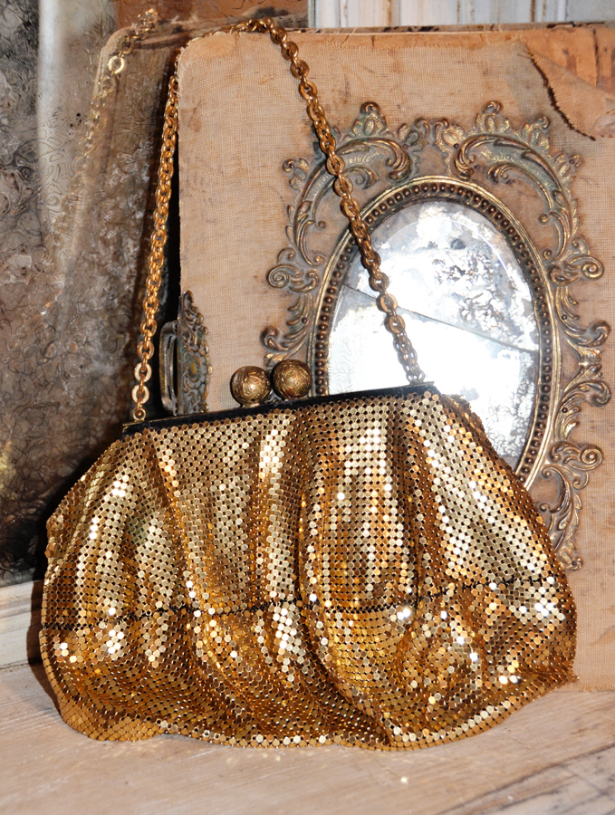 Beautiful Antique Chain Metal Handbag/Purse-