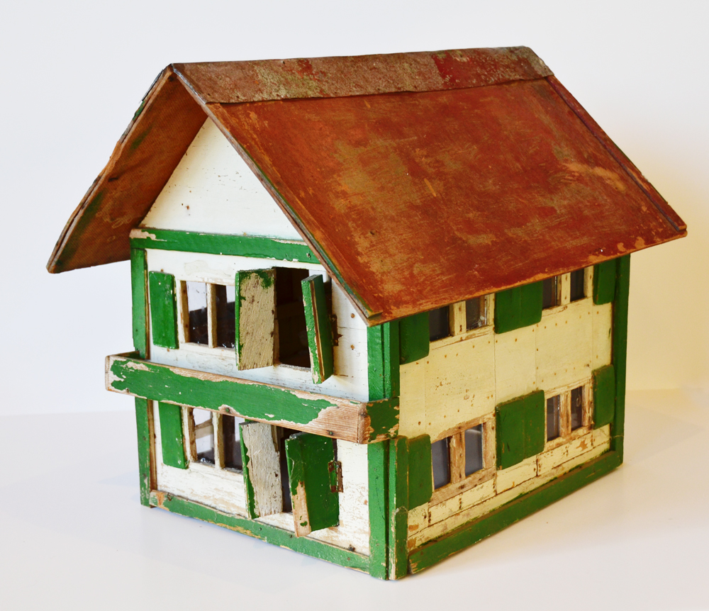 Rare Antique Folk Art Original Farm House Bird House