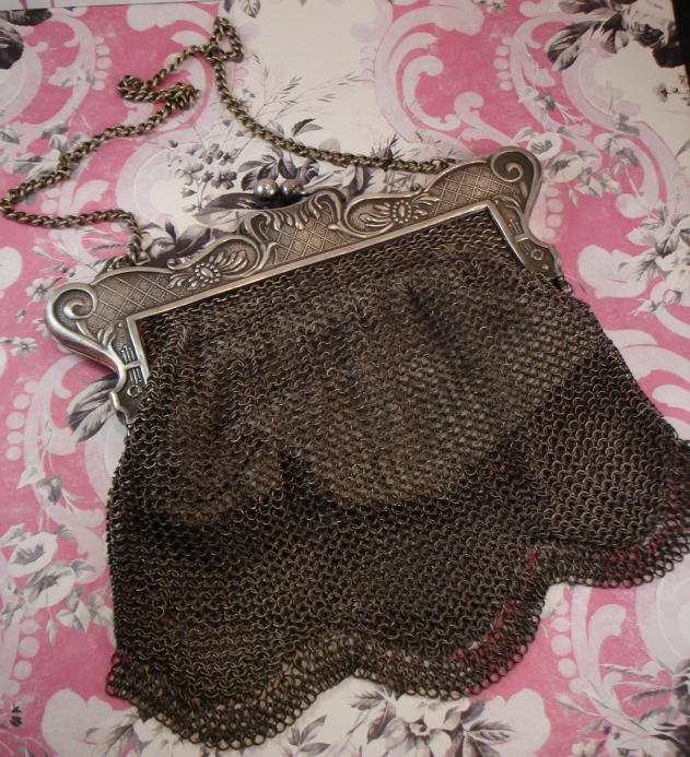 Gorgeous Antique Gun Metal Chatelaine 1900s Purse-