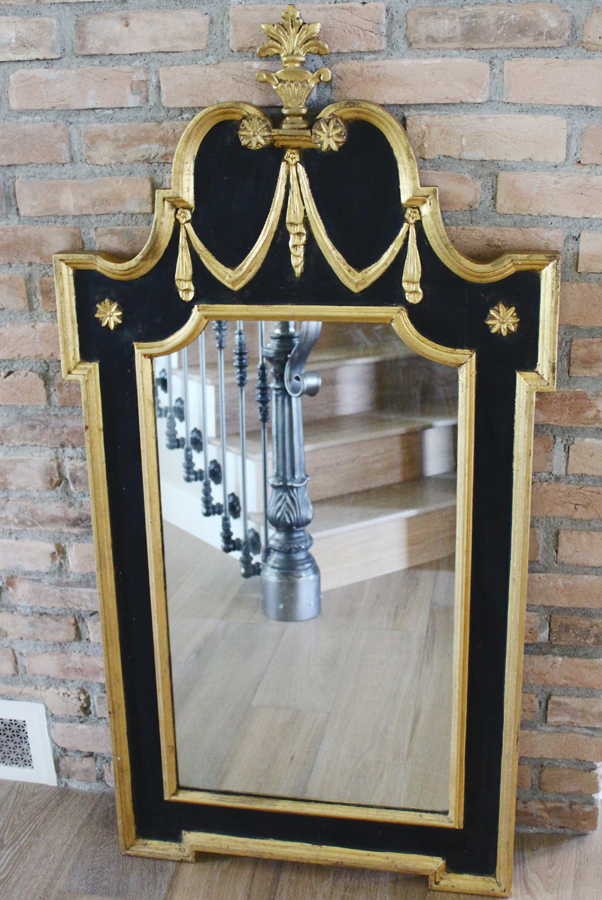 Antique Italian Carved Mirror Gilt & Hollywood Regency-Antique Italian Carved Mirror Gilt & Hollywood Regency