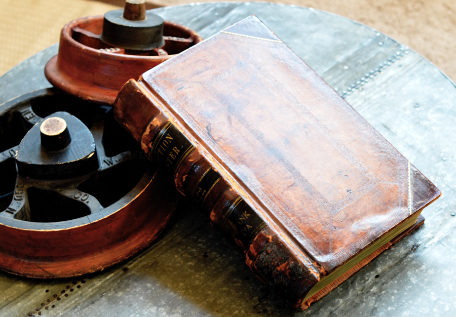 Incredible Giant Size Leather Ledger Book Antique-