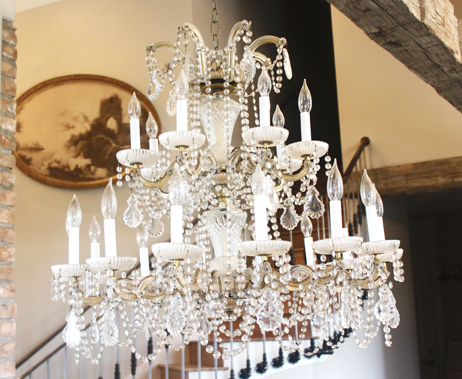 Antique Grand Opera Crystal Chandelier Made in Italy