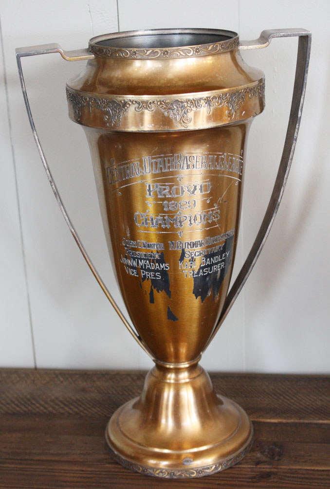 1929 Incredible Xlrg Antique Baseball Loving Cup Trophy