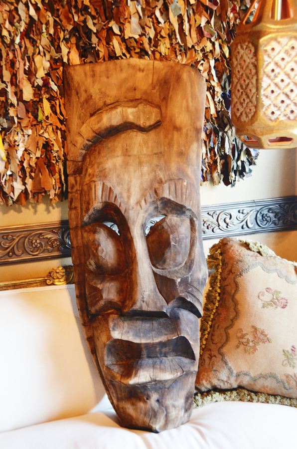 Incredible Early 1900s Xlrg Tiki Carved Wood Mask Global Decor