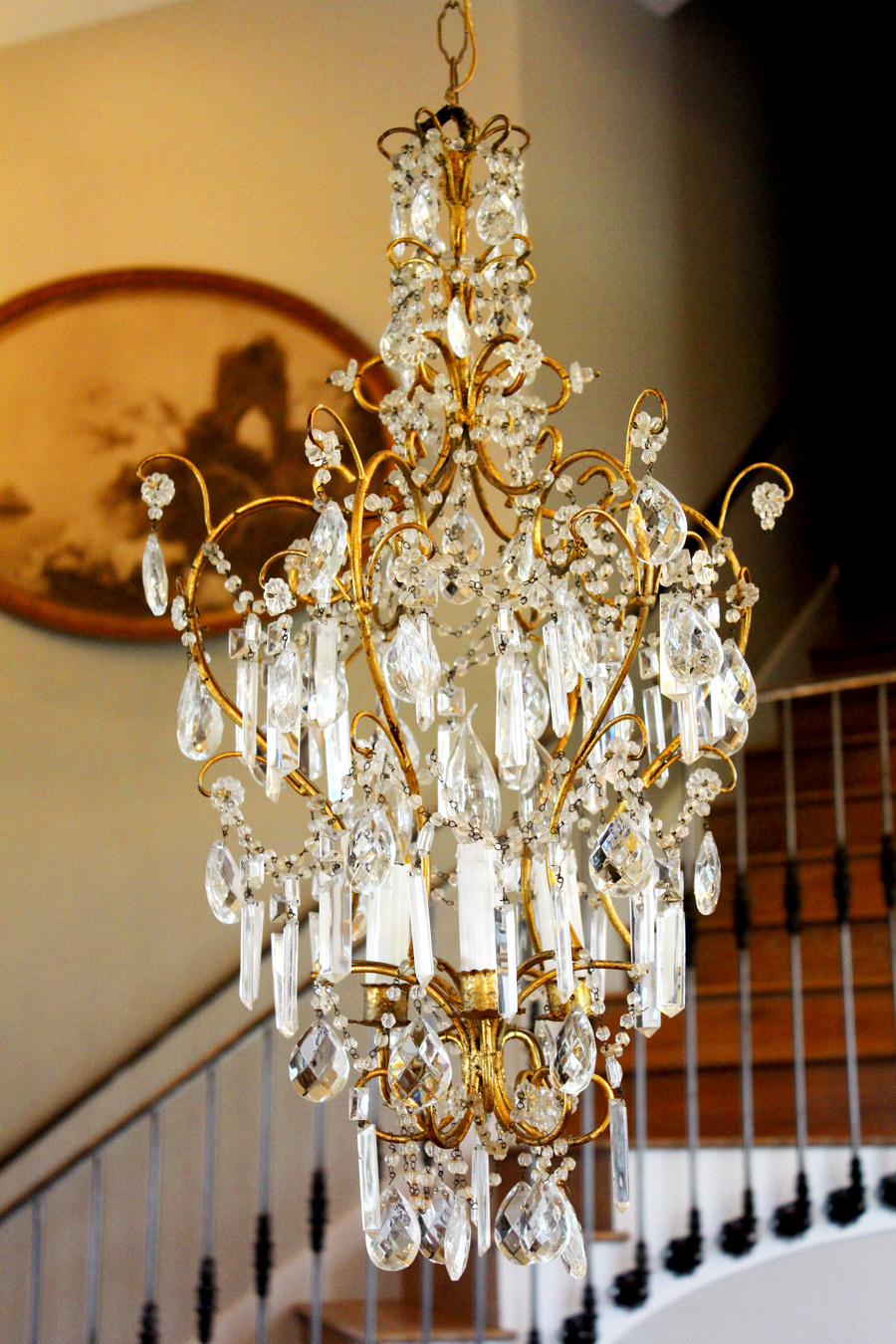 Breathtaking Italian Beaded Antique Chandelier