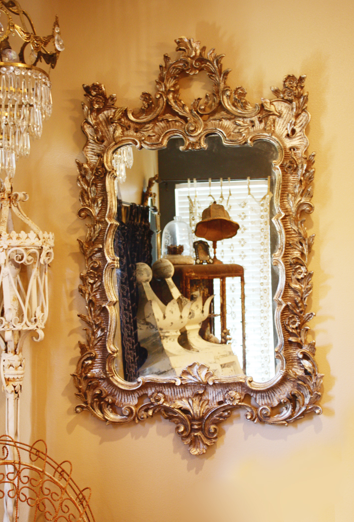 Incredible Antique Italian Hand Carved Xlrg Antique Mirror-