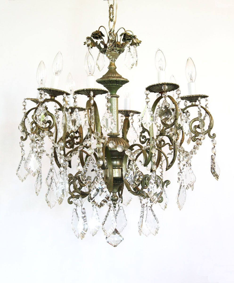 Incredible Antique Crystal Chandelier My Fav! Breathtaking