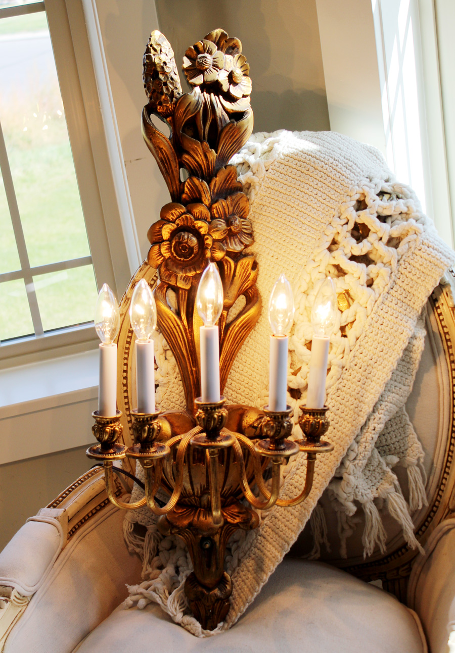 Antique Wall Candelabra Sconce Chandelier Gorgeous Details-