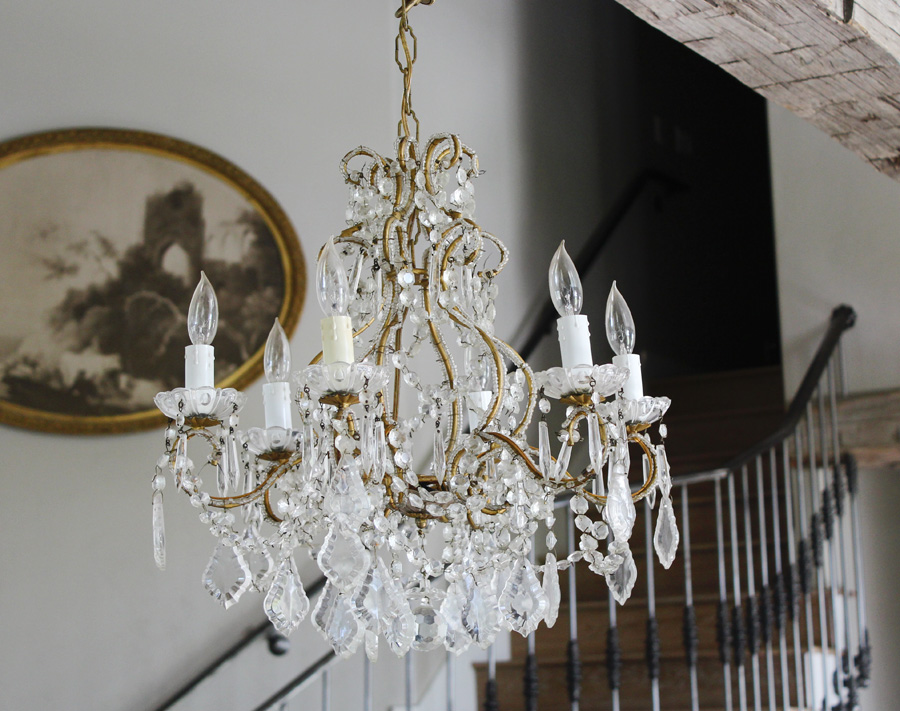 Antique Italian Beaded Chandelier Incredible