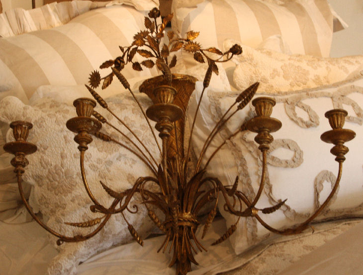 Xlrg Italian Hand Carved Wall Chandelier/Sconce Gorgeous