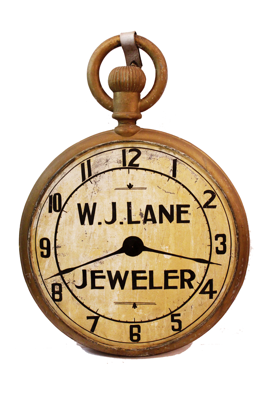 Antique Rare Late 1800s Jewelers Pocket Watch Trade Sign