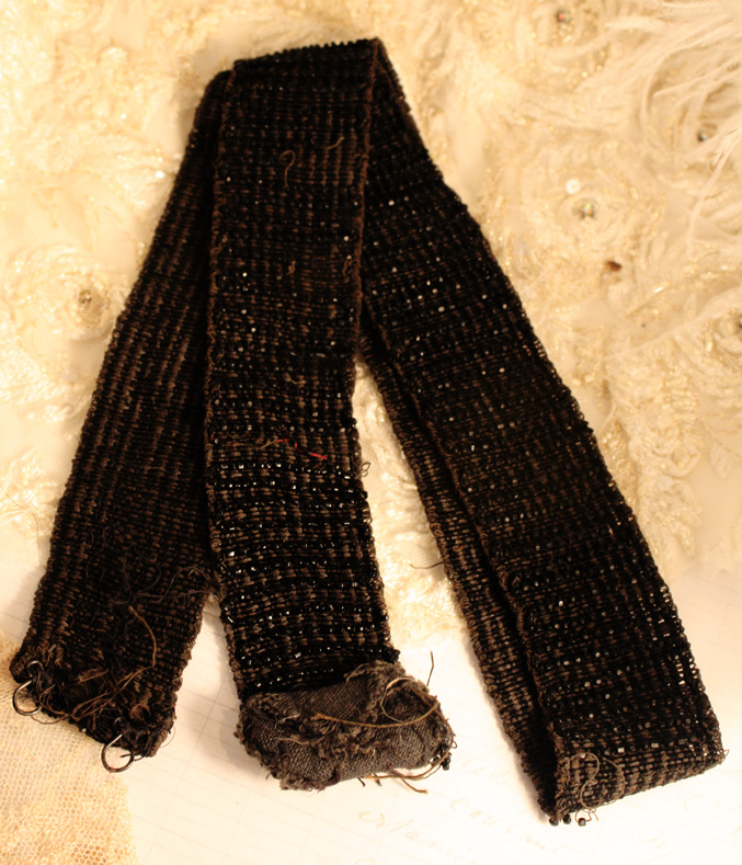 Roaring 20s Flapper Black Jet Belt-