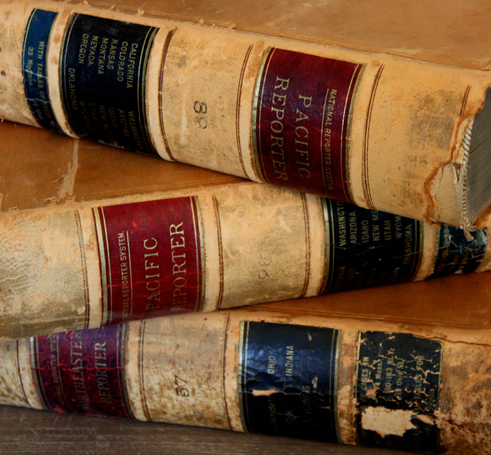 Set of Three Old Leasther Bound Law Books-