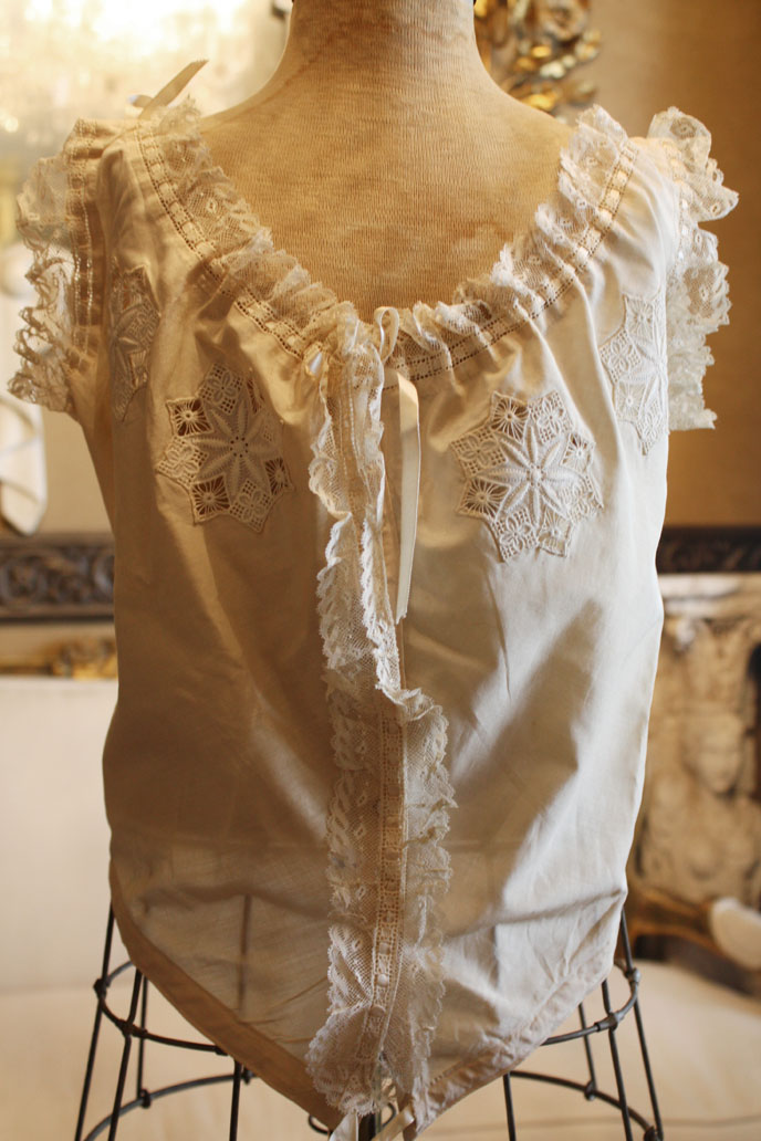 Lovely French Antique Lingerie Camisole Handmade Lace