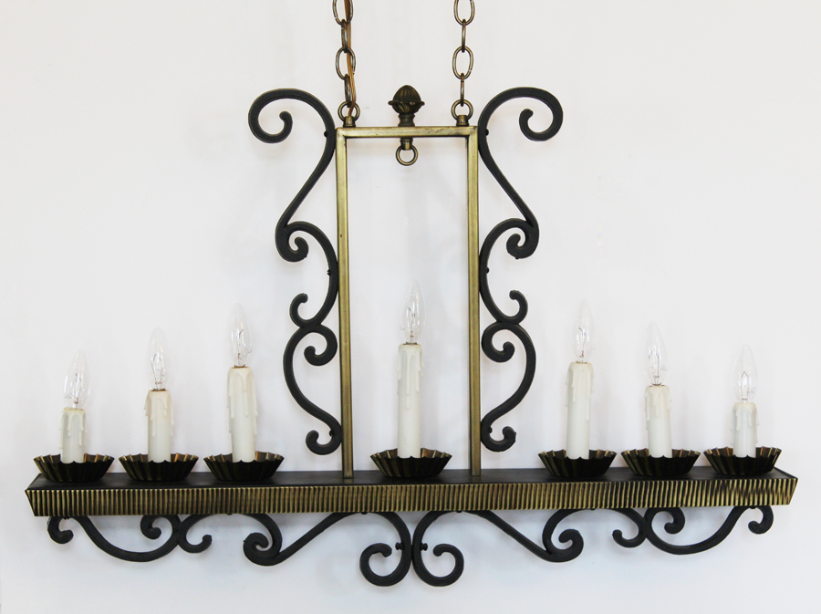 Antique Hanging Candelabra Chandelier Xlrg