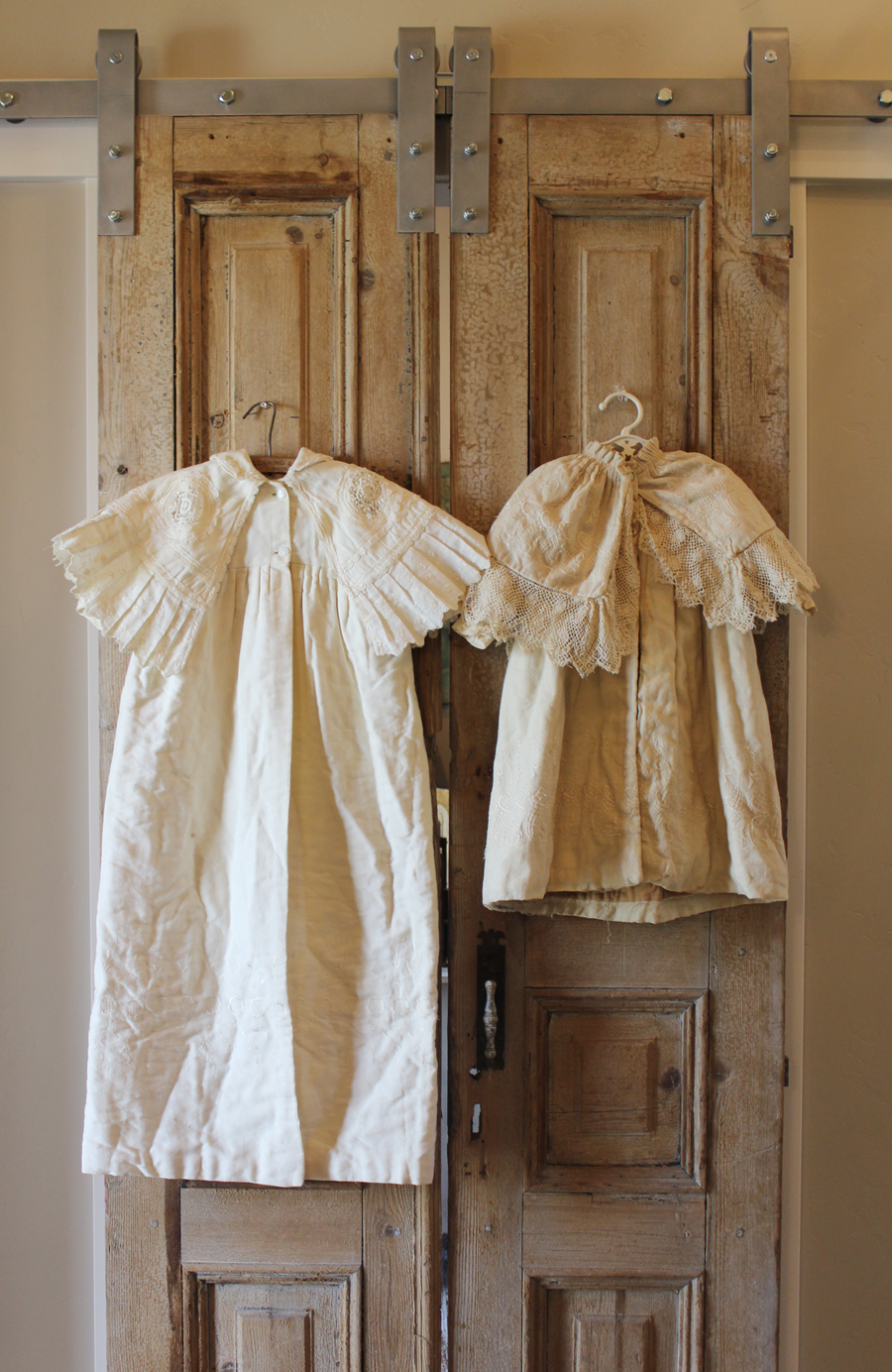 Superb Antique French Christening Baby OverCoat Gown