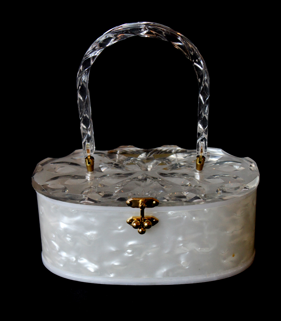 Antique Lucite Fashion Womans Purse-