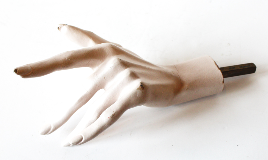 Antique Mannequin Hand Display