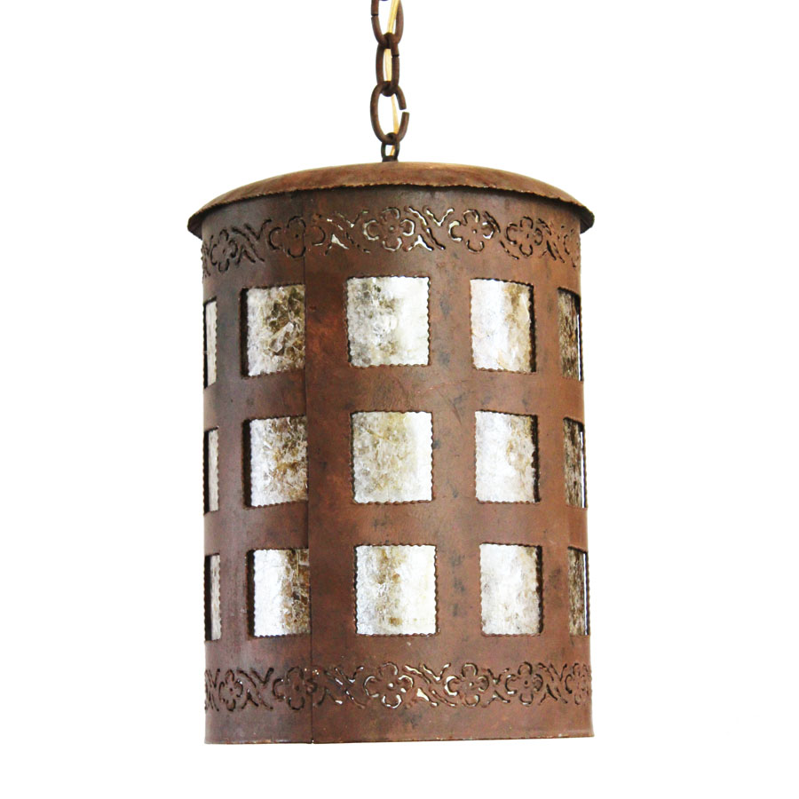 Antique French Drum Hanging Lantern Light Gorgeous