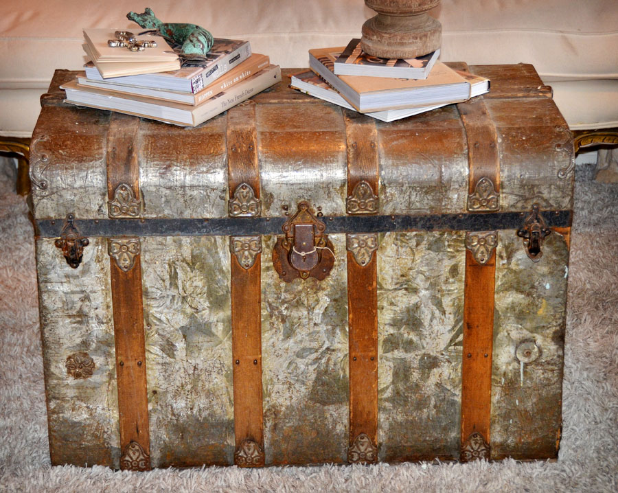 Incredible & Rare Antique Metal Trunk-