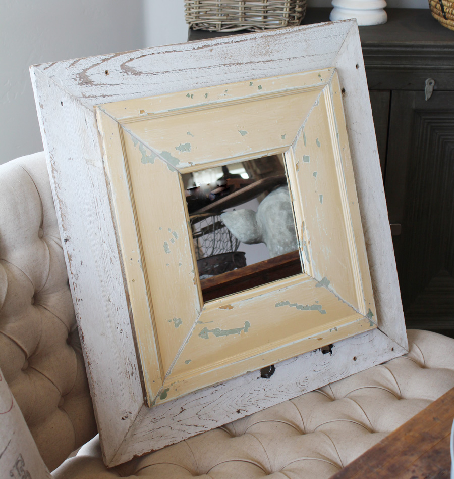 Gorgeous Antique Molding Square Mirror-