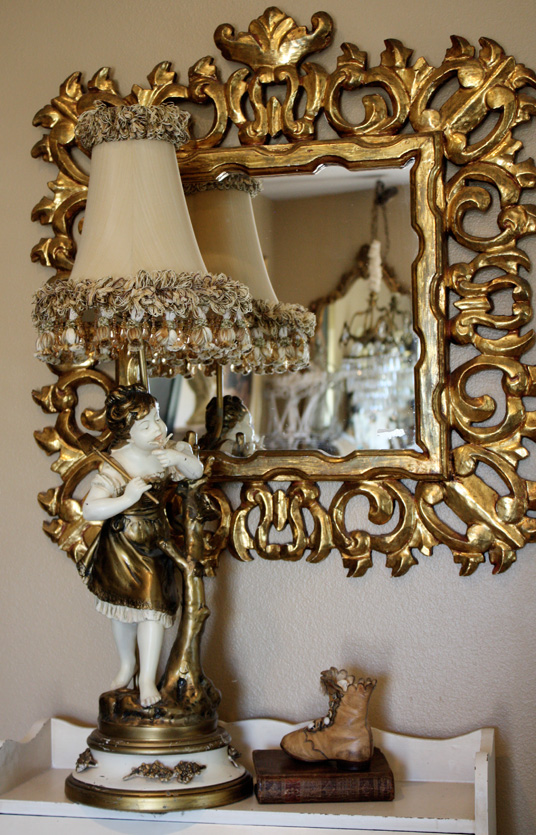 Antique Moreau Figural Girl Lamp Beautiful