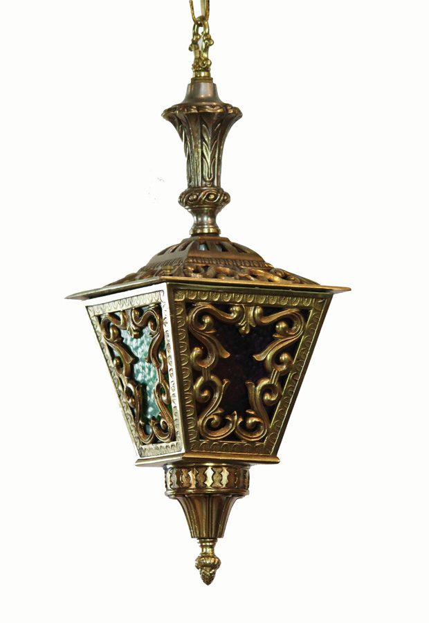 Antique Brass Hanging Lantern Light