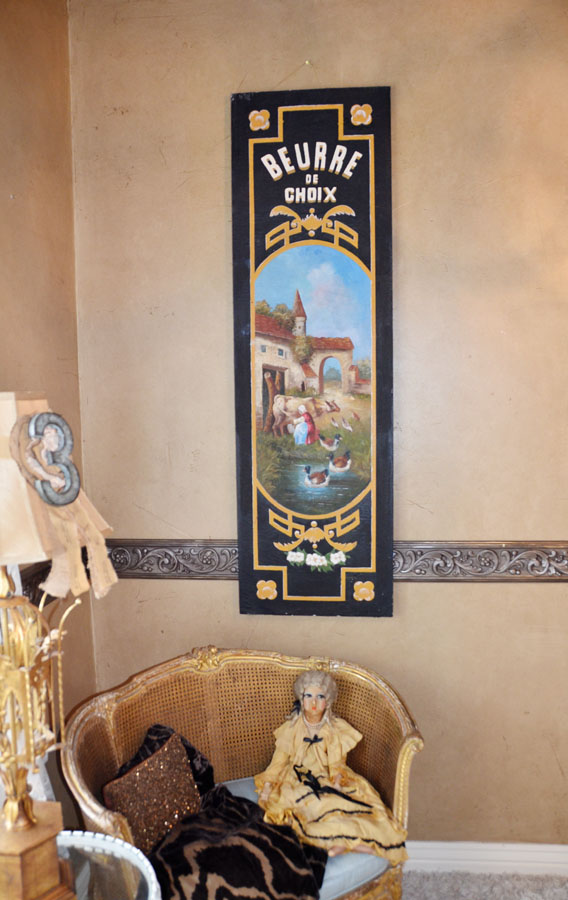 Incredible Hand Painted Panel French Country Scene-