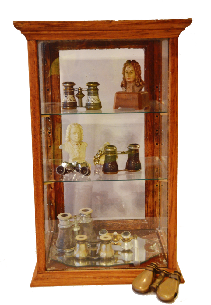Antique 1920s Oak General Store Display Cabinet-