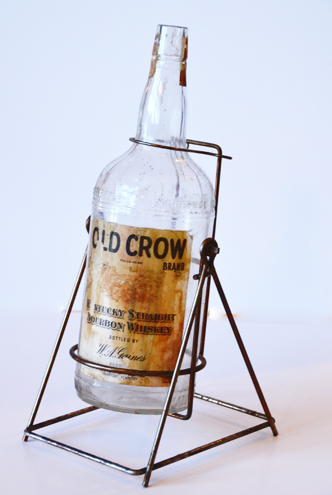 Antique Liquor Dispenser & Whiskey Bottle Barware