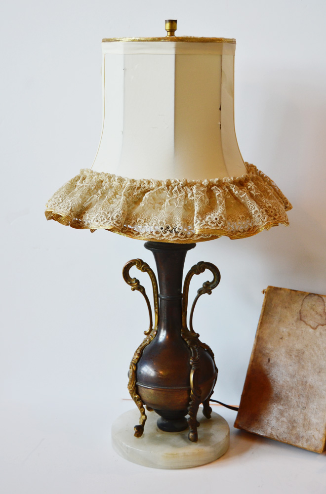 Incredible Antique French Urn Table Lamp-