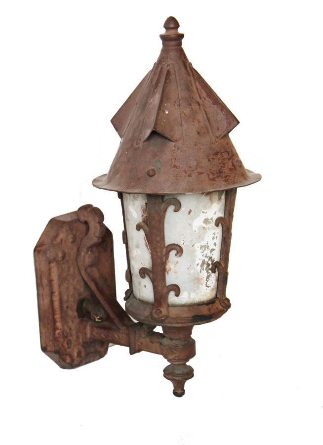 Late 1800s French Lantern Wall Sconce Wonderful Patina-
