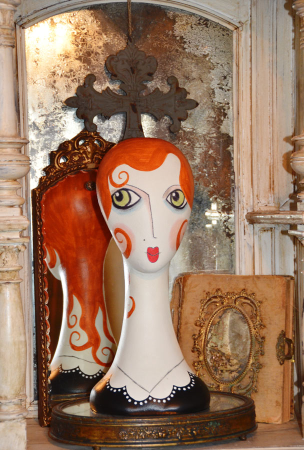 Whimsy Handpainted Bust Mannequin-