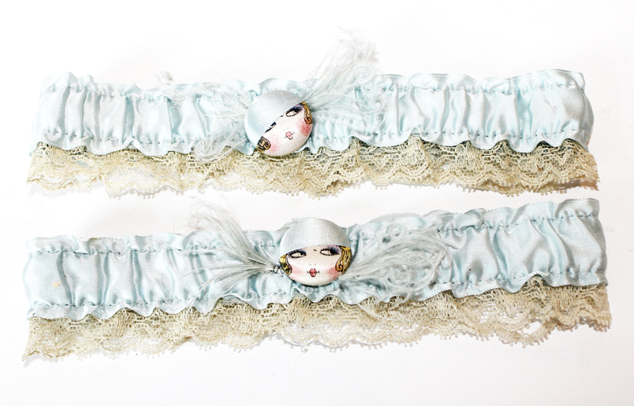 Early 1900s Rare Pair French Flapper Garter Belts-