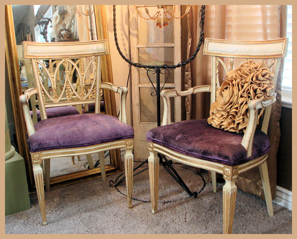 Incredible Pair Italian Gilt & Carved Occasional Chairs-