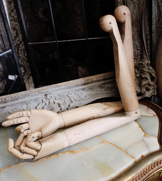 Pair Antique Wood Articulated/Jointed Hands w/Arms