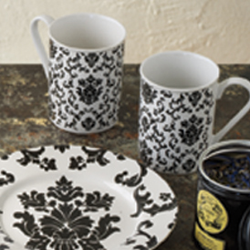 Parisian Wallpaper Set of 4 Mugs-