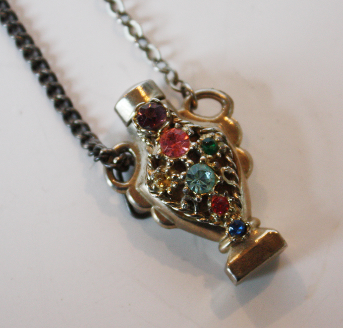 Antique Jeweled Perfume Bottle Chatelaine