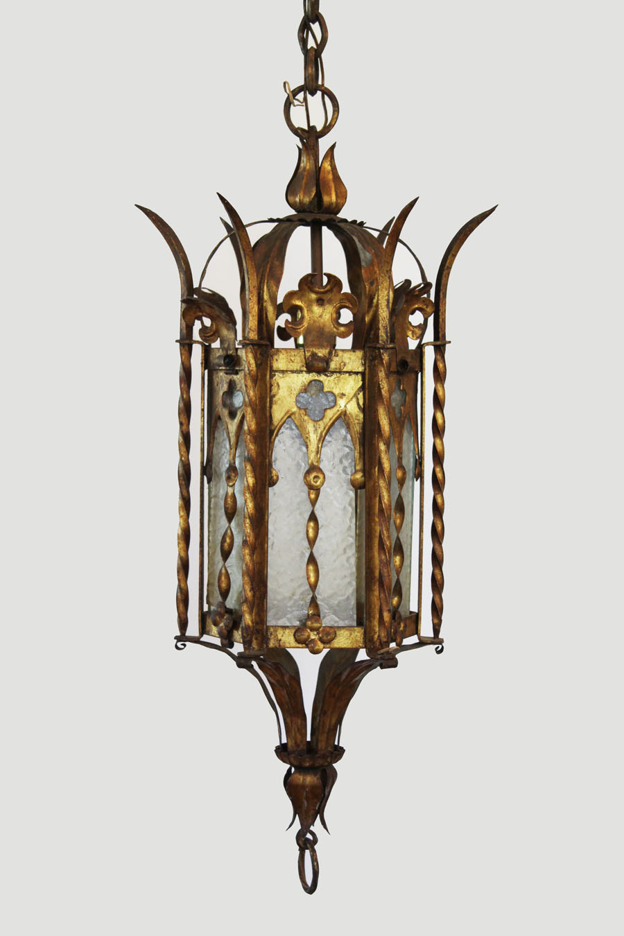 Antique Gothic French Revival Lantern Hanging Light