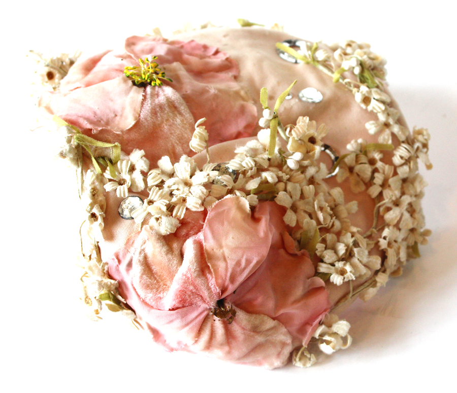 Antique Millenry Womans Hat Flowers & Details-
